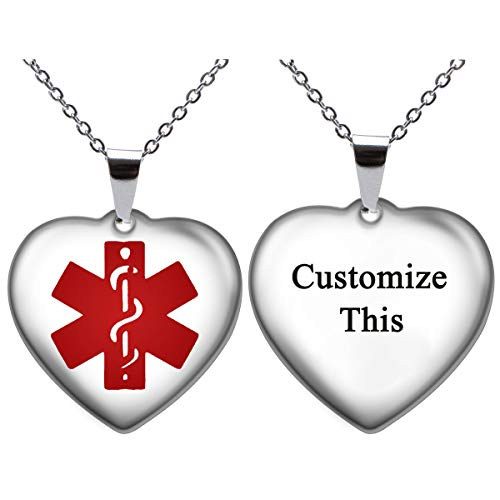 Amazing Deal Fanery Sue Free Engraving Personalized Custom Stainless Steel Medical Alert ID Dog tag ...