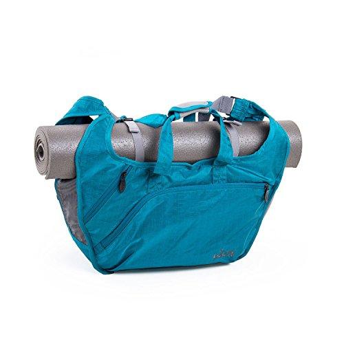 Yogatas Bohdi Tote Bag NATARAJ, yogamattas, veel praktische vakken, licht en robuust materiaal, veel ruimte voor handdoek, wisselkleding petrol