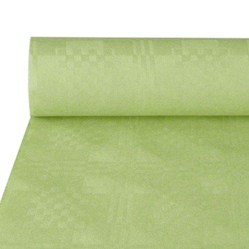 Papstar NEU Tischdecke pastellgrün, Damastprägung, 50x1m