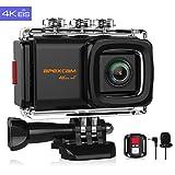 Apexcam 4K 20MP WiFi Caméra de Sport EIS Ultra HD Caméra sous-Marine Etanche 40M...