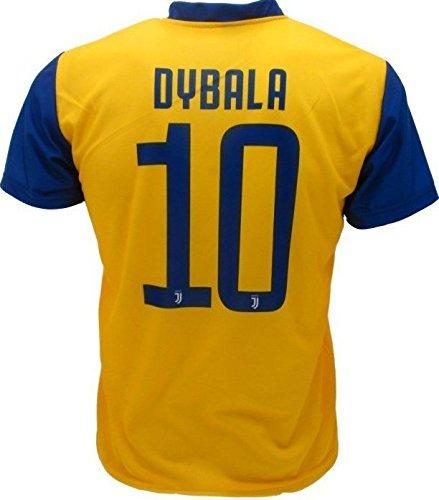 Juventus Maglia Gialla Dybala 10 Replica Ufficiale 2017-18 Bambino Uomo Adulto Juve Away (cm:Spalle 54,Torace 58,lungh.74-XL)
