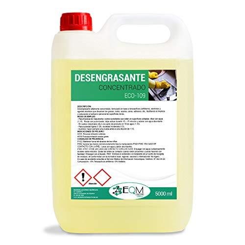 Ecosoluciones Químicas ECO-109 Fettlöser, Konzentrat, speziell für Küche, Motoren, Maschinen, industrielle Böden und Werkstätten, 5 Liter