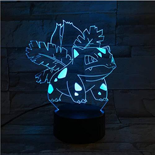 Lámpara de ilusión LED 3D Lámpara de noche para niños Sensor táctil Cambio de color Decoración de dormitorio Luz de noche RGB-16 colors remote