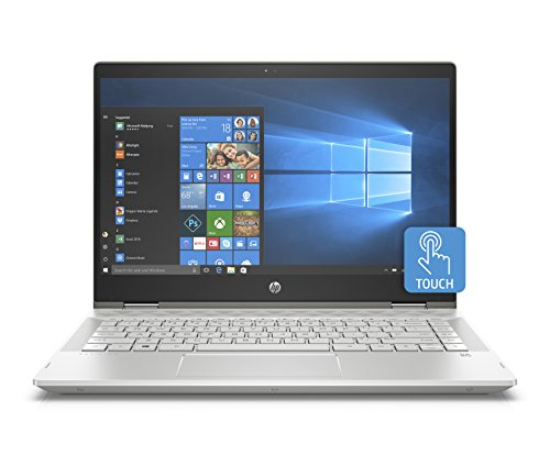 HP Pavilion x360 14-cd0013ns - Ordenador Portátil Convertible 14' FullHD (Intel Core i7-8550U, 8GB RAM, 256GB SDD, Nvidia GeForce MX130, Windows 10) Color Plata - Teclado QWERTY Español
