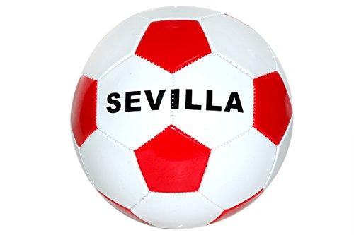 Toinsa - Balón de Fútbol Blanco y Rojo \'Sevilla\'