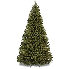 BEAUTIFUL AND FESTIVE: This hinged Christmas tree will be an eye-catching centerpiece to any room during the holidays FULL AND FLUFFY: Spruce-style branches are fluffed in approximately 45-60 minutes and covered in 1,346 tips for the 7.5-foot version...