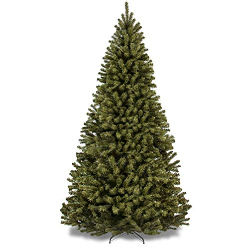 2.3m High Quality Hinged Spruce Artificial Christmas Tree with Easy Assembly, Folding Stand
