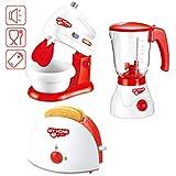 deAO Set di Utensili Elettrodomestici da Cucina per Bambini Accessori da Cucina Giocattolo...