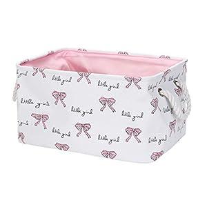 valen 9.4-Inches Rectangular Storage Bin, Cotton & Linen Fabric Storage Baskets with Handles, Toy Storage Bin,4 Styles