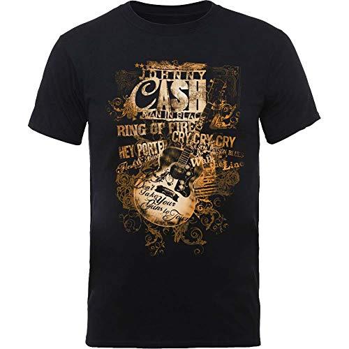 Johnny Cash JCTS12MB02 T-Shirt, Black, Medium