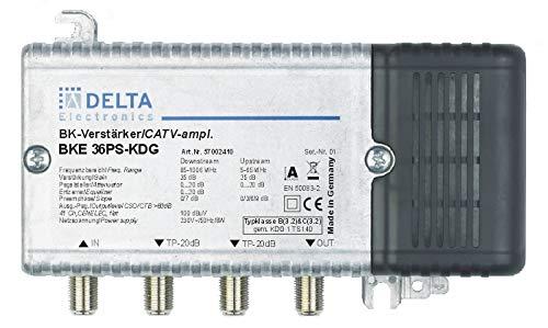 DCT Delta–BKE 36PS KDG VPE: 1, Hausanschlussverstärker KDG B (3.2) und C (3.2) 1GHz 35dB, RW 65MHz Verstellvorrichtung Ebene 25dB