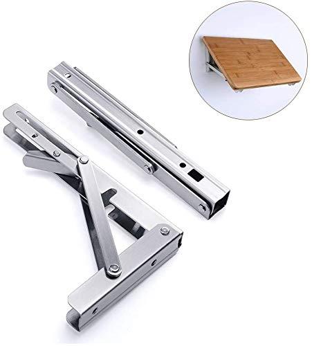 DX scharnierende ondersteun, roestvrijstalen klaptafel met korte ontgrendelarm, draagvermogen: 75 kg (2 stuks)