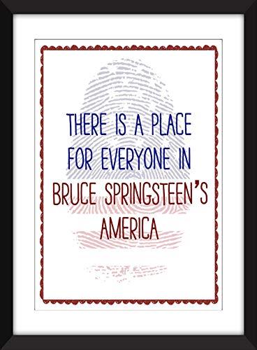 Bruce Springsteen America/Amerika-Zitat Ungerahmter Druck