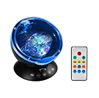 【Neuester Ozeanwellen-Projektor】 -- Die ferngesteuerte Hypnosis Ozeanwellen-Projektor-Nachtlicht ist ein Upgrade Mini-Projektor-Nachtlicht, es kann buntes Licht auf die glatte Decke und Wand projizieren und schafft eine romantische, entspannende, gem...