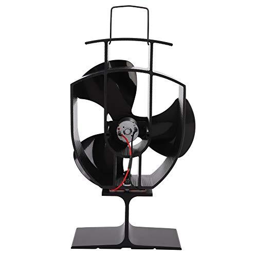 Gind Ventilador de calefacción para Chimenea, Ventilador de Estufa, hogar Negro de 3 W para Troncos de Madera