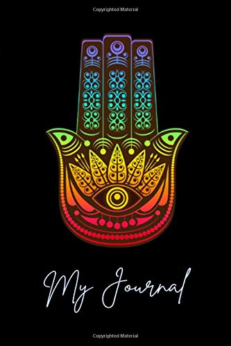 My Journal. Hamsa Hand Cover Design. Blank Lined Journal Planner Notebook Diary.