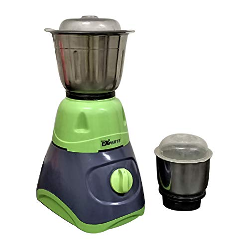 MAYUMI® GLS EXPERTS PLUTO - Power Pro Mixer Grinder - 660 Watts with 2 SS Jar for Home Kitchen (Green - Grey)