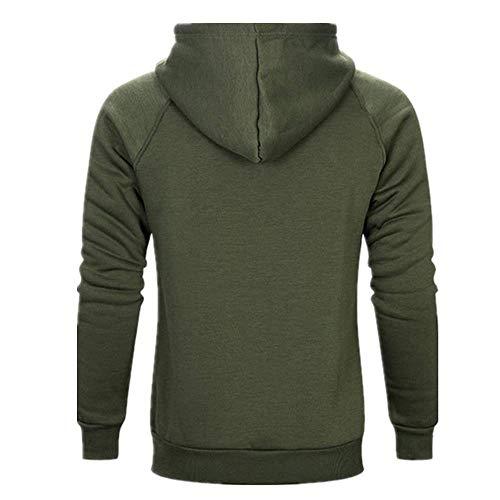 Z&Y Glaa Men's Hoodie Sweatshirt Sweater Pullover Hooded Fleece Sweatshirt with Kangaroo Pockets Solid Color Hoody Pullover Hoodies Hooded Sweatshirt Camo Patchwork Top Casual Hoody with Pocket