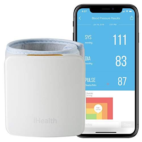 iHealth Smart Wrist Blood Pressure Monitor, Bluetooth Blood Pressure Cuff, 1 Count