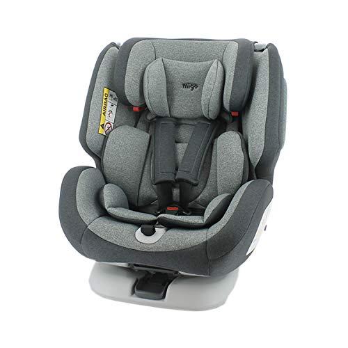 migo Mycarsit Autositz Isofix One 360° drehbar, Gruppe 0+/1/2/3, 0-36 kg, Rücken zur Straße, 0-18 kg, komfortabler Bezug, seitlicher Schutz