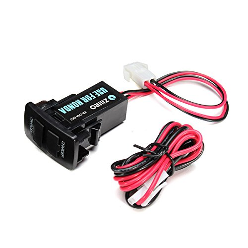 Forspero 12V 3A Dual USB-poort Power Socket Mobile GPS Car Charger for Honda