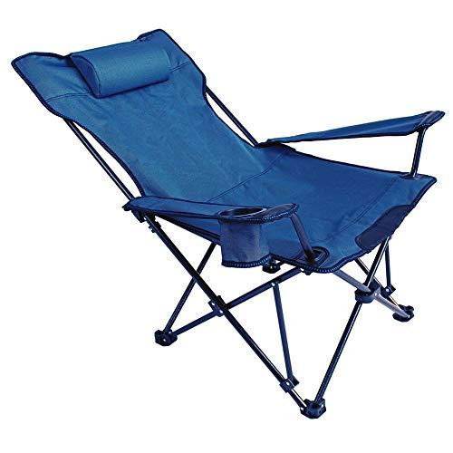YYDD - Silla de playa para almuerzo, silla reclinable plana y reclinable, silla de terraza, silla ajustable con gravedad cero reclinable para playa, jardín, picnic, oficina, cómodo y suave y sólido