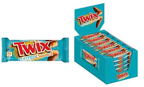 Twix Salted Caramel | 30 Doppelriegel | Schokolade, Salted Caramel, Keks (30 x 46g) | 1,38 kg