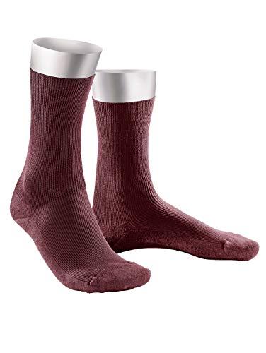 Weissbach Komfort-Socken ohne einschneidenden Gummibund weinrot