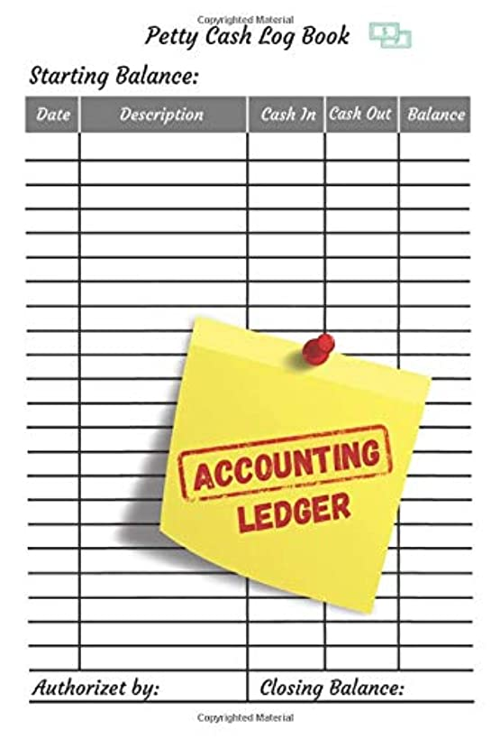 Accounting Ledger: Portable Cash recording journal for tracking payments |Payment & Spending Tracker within the office, School, Restaurant, Business & ... use, Accounting Ledger (100 Pages 6 x 9 )