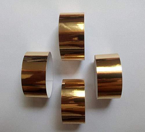 saxxdeluxe 20 Gold Farben Servietten-Ringe aus metallisch glänzendem Papier