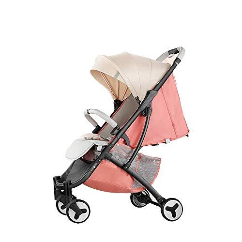 Haojiechunxiang Cochecito de bebé Cochecito Plegable Ultraligero para bebé El bebé Puede Sentarse Sombrilla de Cochecito reclinable,B