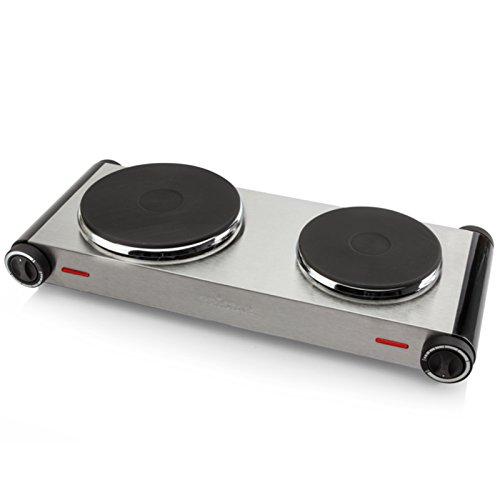 Fornello, piano di cottura, fornelli, piastra per cuocere, forno elettrico, fornello da campeggio, piastra a infrarossi, fornello a induzione, piano cottura a induzione, fornello, 2er Kochfeld 2,5KW
