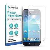 smartect Protecteur d'écran en verre pour Samsung Galaxy S4 mini [Mat] - Verre trempé 9H - Design Ultra-mince - Installation sans bulles - Protection Anti-traces de doigts