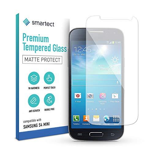 smartect Matte Schutzfolie kompatibel mit Samsung Galaxy S4 mini Screen [MATT] - Tempered Glass mit 9H Härte - Blasenfreies Schutzglas - Anti-Kratzer Displayschutzfolie