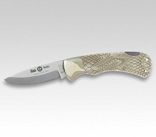 KLAAS-LINDER Taschenmesser SONDEREDITION 10 Schlangenhaut-Imitat Neusilberbacken