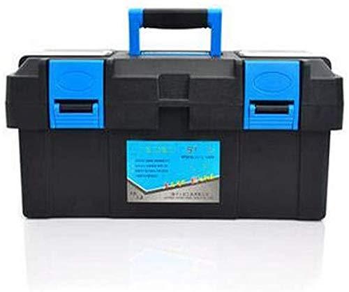 Toolbox for thuis outdoor reparatie tool opbergdoos, zwart multifunctionele plastic ijzer 17 inch, maat 40 * 19 * 18,5 cm (Kleur: Zwart, Maat: 40 * 19 * 18,5 cm) zhihao
