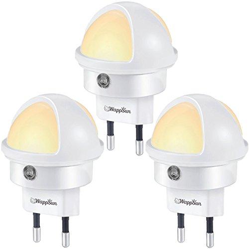 Nachtlicht 3er-Set Warmweiß, Kompaktes LED Nachtlicht mit Dämmerungssensor Stromsparend: ca. 0,2...