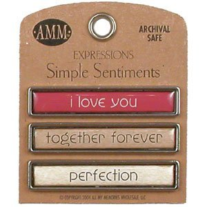 Simple Sentiments - I Love You/Together Forever/Perfection by All My Memories