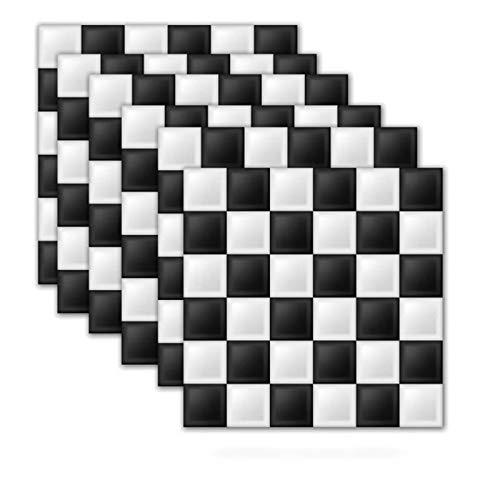 Pegatinas de pared 3D tridimensionales de mármol, autoadhesivas, a prueba de aceite, impermeables, simulación de mosaicos para cocina y baño (2 paquetes)