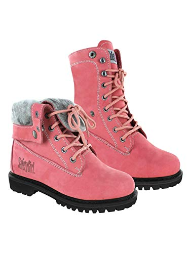 Safety Girl GS008-Pink-ST-7M Madison Fold-Down Work Boot - Pink Steel Toe 7M, English, Capacity, Volume, Leather, 7M, Pink ()