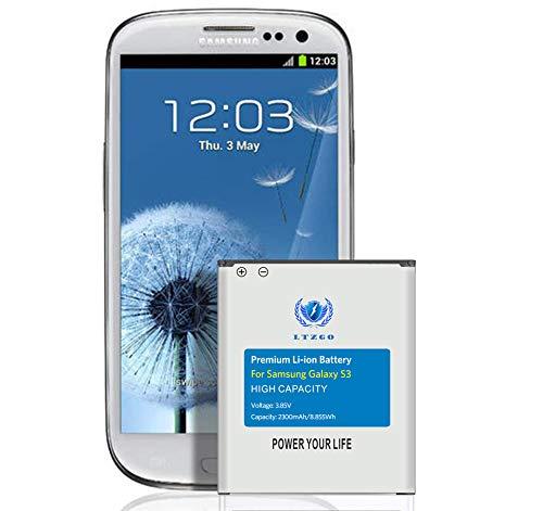 Ersatz Akku für Samsung Galaxy S3 hoher Kapazität 2300mAh Ersatz Batterie Interner Akku,Ohne NFC,Verbesserter,2020 Baujahr