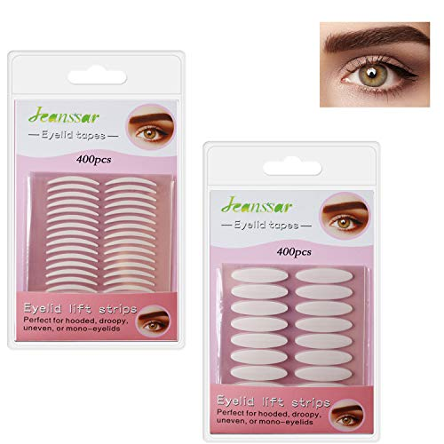800Pcs Natural invisible Single-sided Eyelid Tapes Double Eyelid Stickers, Instant Eye lid Lift Strip, Perfect for Uneven Mono-Eyelids, Wide and Slim