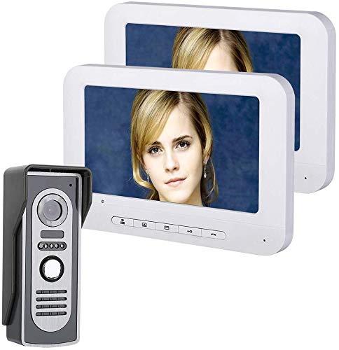 Nfudishpu Video-Türklingel, 700TVL-Kabelkamera, 7-Zoll-HD-Display mit 2 Kabeln, Türklingel-Gegensprechanlage mit IR-Cut, geeignet für Villa-, Privat- und Bürotürklingel