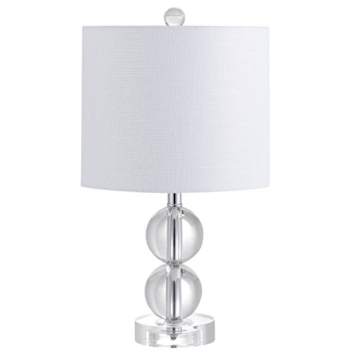 """JONATHAN Y JYL2057A Brooklyn 17.5"""" Crystal LED Table Lamp Contemporary,Transitional,Traditional,Glam for Bedroom, Living Room, Office, College Dorm, Coffee Table, Bookcase, Clear"""