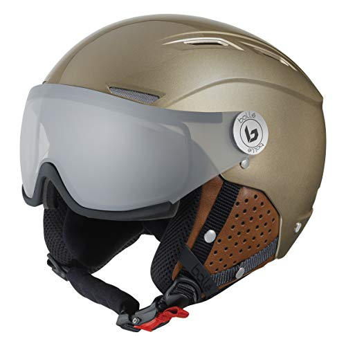 bollé Backline Visor Casques de Ski Gold Adulte Unisexe 59-61 cm, Shiny Gold & Cognac, Large