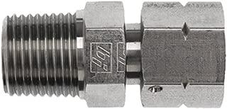 Brennan 1404-16-12 Steel Pipe Fitting, Straight, 1-11 1/2 NPTF Male x 3/4-14 NPSM Female Swivel