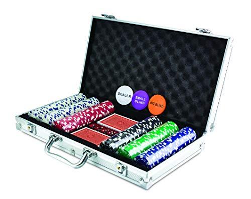 KOVOT 300 Chip Dice Style Poker Set In Aluminum Case (11.5 Gram...
