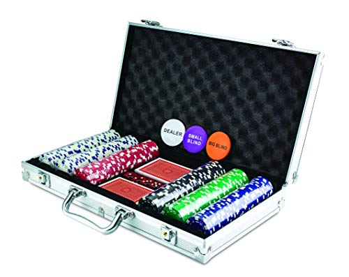 KOVOT 300 Chip Dice Style Poker Set In Aluminum Case (11.5 Gram...
