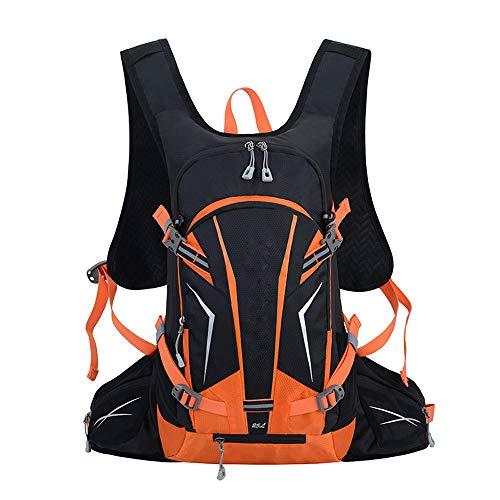 Phy 25L Leichter Laufrucksack Fahrradrucksack Wasserdicht Damen & Amp; Männer Zum Radfahren Wandern Camping Spazierengehen Reisen Angeln Trekking Bergsteigen Orange