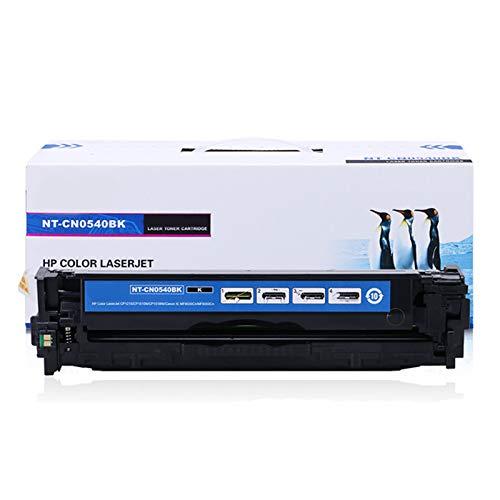JZMY Office - Cartuchos de tinta para impresora HP Color LaserjetCP1215 CP1515 CP1515N CP1518NI CM1312 CM1312NFI modelo CB540A/CB541A/CB542A/CB543A/125A, color negro